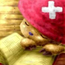 One Piece achtergrond titled Tony Tony Chopper Asleep After Reading A Book