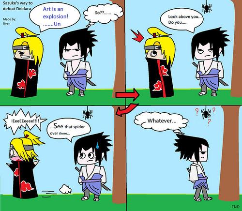 Deidara VS Sasuke :)