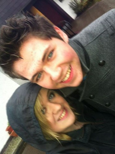 Derry fan, Brid & Damian @ Radio Foyle 30 Dec 2011