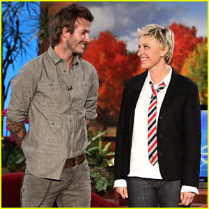 Ellen and David Beckham