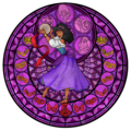 Esmeralda`s stained glass window - disney-leading-ladies fan art