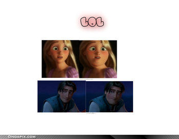 FAT Rapunzel and Flynn lol XD