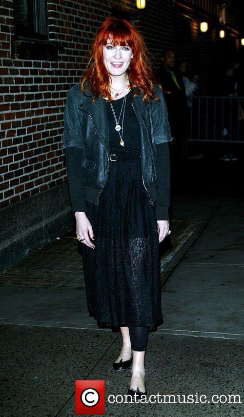 """Florence Outside """"The Late Show With David Letterman"""" Studios - New York"""