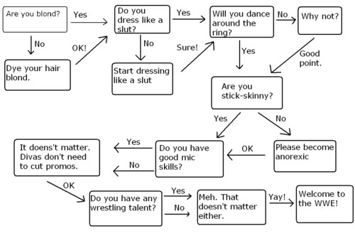 Flow Chart: How to Become A wwe Diva
