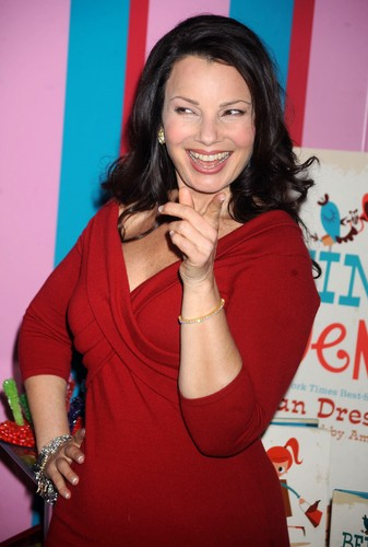 Fran Drescher Hintergrund possibly containing a portrait entitled Fran Drescher