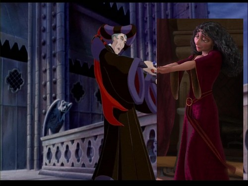 Frollo & Gothel holding hands