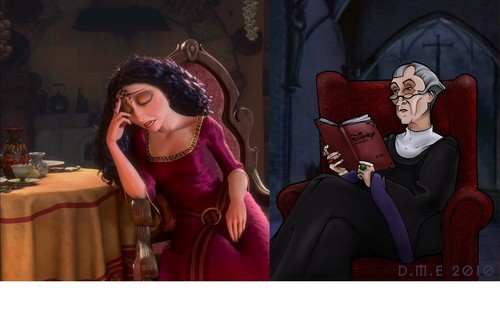 Frollo reads to Gothel