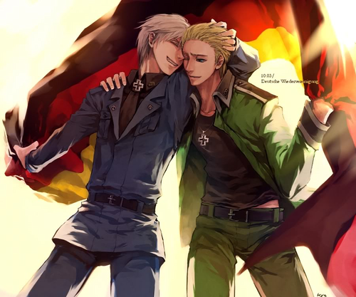 Hetalia: Germany kertas dinding entitled Germany and Prussia