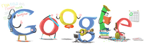 Google Happy New năm