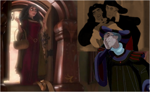 Gothel catches Frollo Dreaming about Emeralda