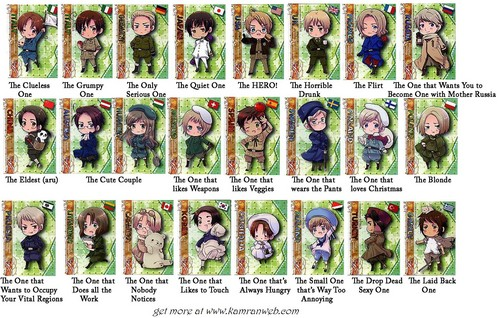 hetalia - axis powers chibi Cast