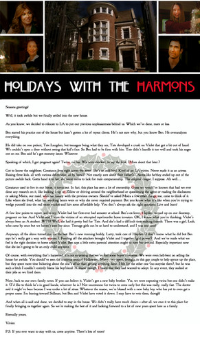 Holidays with the Harmons