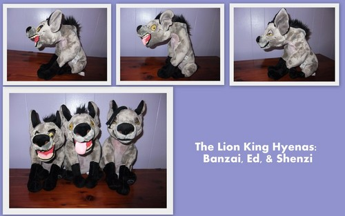 Hyenas from Lion King 壁纸 titled Hyenas plushes