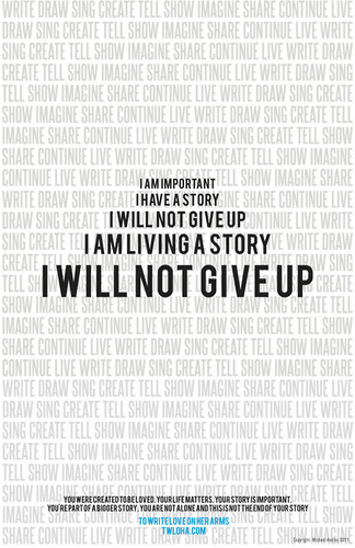 I will not give up.