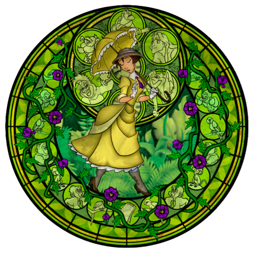 disney Leading Ladies fondo de pantalla titled Jane`s stained glass window