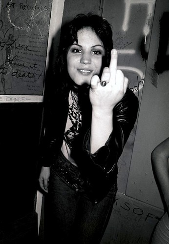 Joan Jett wallpaper possibly containing a sign and a cellular telephone called Joan Jett