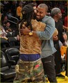 Kanye West: Lakers Game with Lil Wayne! - kanye-west photo