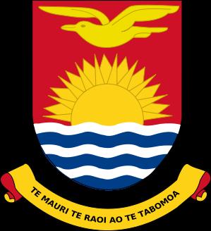 Kiribati kanzu, koti of Arms