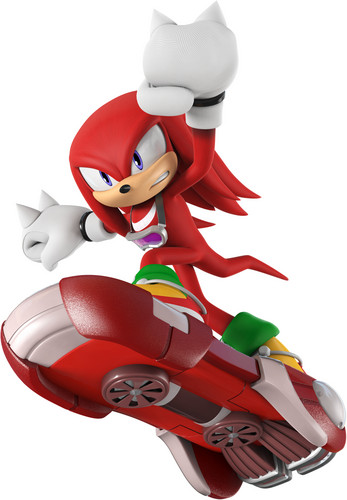 Knux as a rider