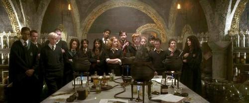 Lavender Brown and Hogwart Students