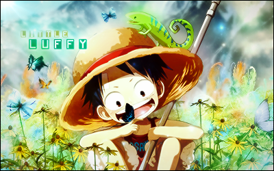 One Piece kertas dinding titled Luffy