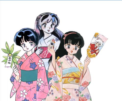 Lum, Akane, & Kagome (Rumiko Leading Ladies)