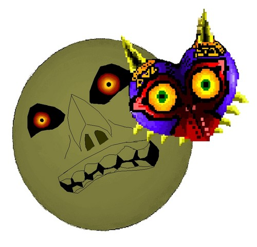 Majora's Mask on Microsoft Paint and WAY too creepy to finish