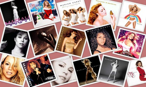 Mariah Carey Albums Collage