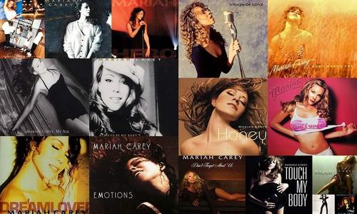 Mariah Carey Billboard Hot 100 Number Ones Collage