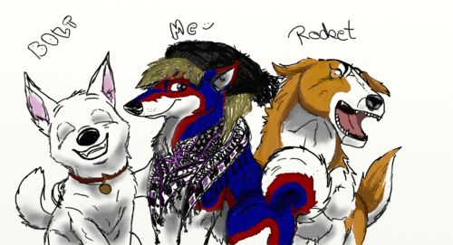 Me and my favourite dogs BOLT and Rocket (from GDW)