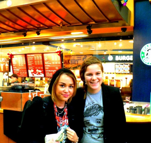 Miley With Fan!