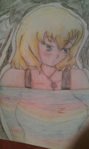 My first anime drawing: Kiri - anime-drawing Photo