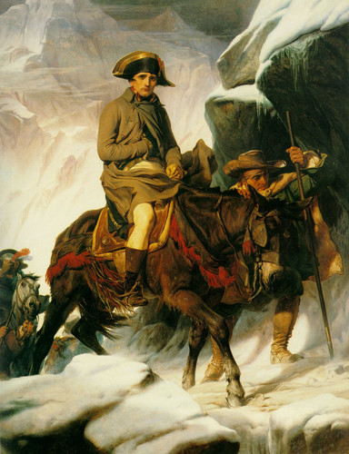 Napoelon crossing the Alps