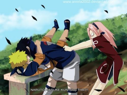 Naruto achtergrond titled Naruto X Sasuke o_o
