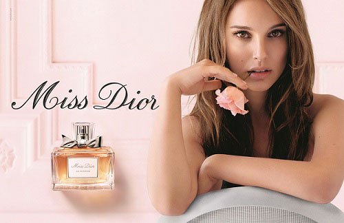Natalie Portman wallpaper probably with a portrait entitled Natalie for Miss Dior Eau Fraiche