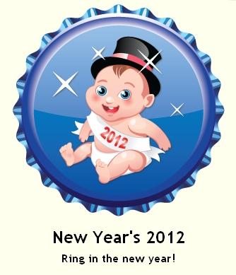New Year's 2012 ٹوپی