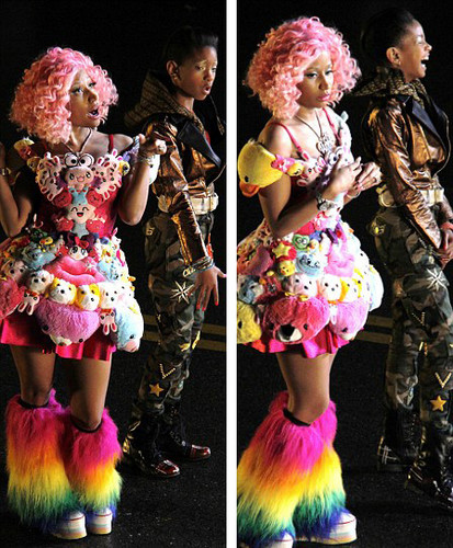 Willow Smith wallpaper called Nicki Minaj & Willow Smith -Fireball-