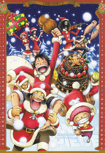 one piece fondo de pantalla possibly containing anime entitled One Piece navidad