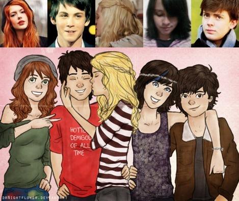 Percy, Annabeth, Thalia, Nico, Rachel