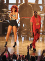 Performing with Kanye West - rihanna photo