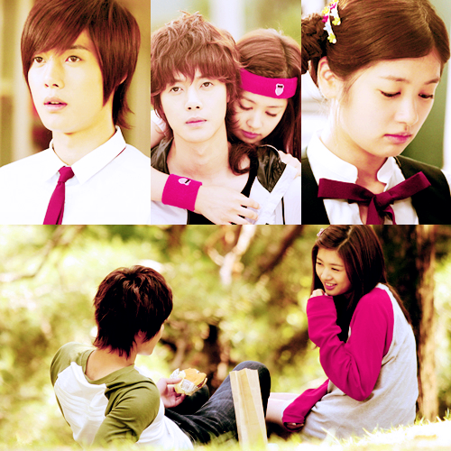 Playful kiss Collage