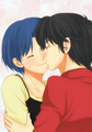 Ranma and Akane _ Doujinshi art (love)