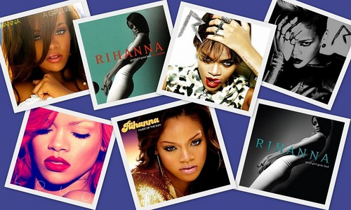Rihanna Albums Collage
