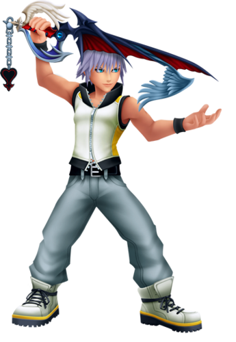 Kingdom Hearts fond d'écran called Riku DDD Fighting Stance
