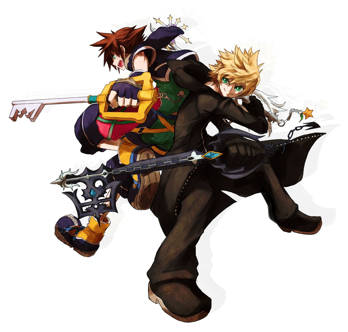roxas and sora images roxas and sora 3 hd wallpaper and background