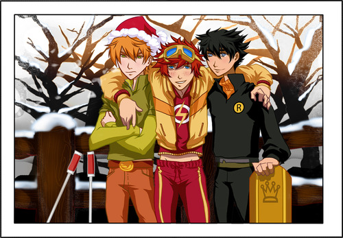 Young Justice wallpaper with Anime called Roy, Wally, and Dick <3