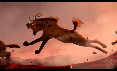 Hyenas from Lion King wolpeyper entitled Running Shenzi