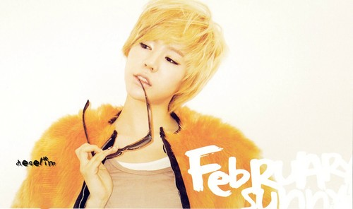 S♥NEISM wallpaper containing a portrait entitled SNSD  Sunny - February 2012 Calendar
