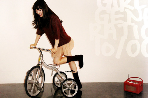 S♥NEISM wallpaper possibly containing a tricycle entitled SNSD Tiffany - October 2012 Calendar