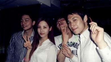 Seohun Hanging out with friends